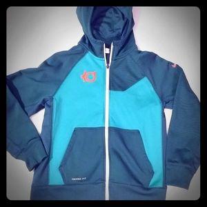 Boys Green Nike KD zip up hoodie, sz Large